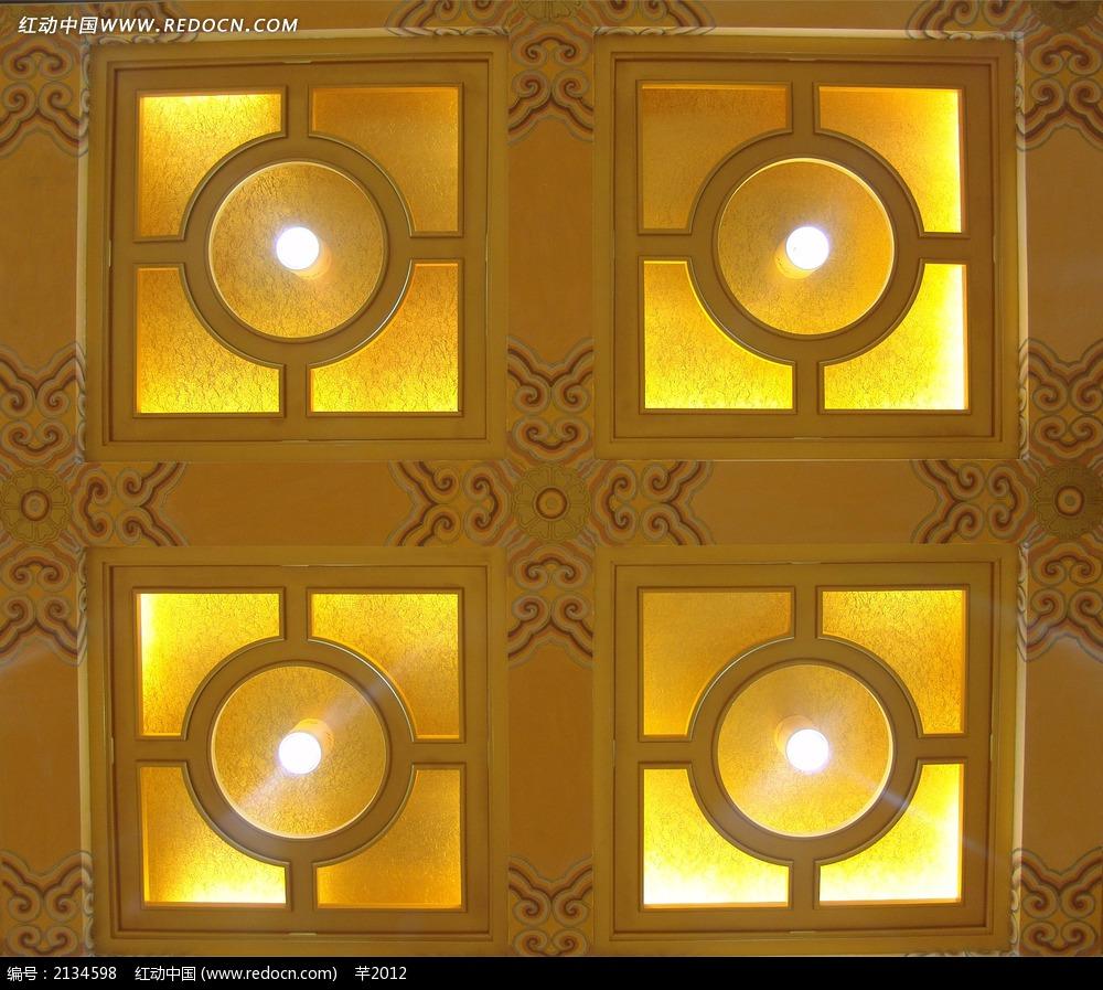 酒店吊顶灯饰设计图图片
