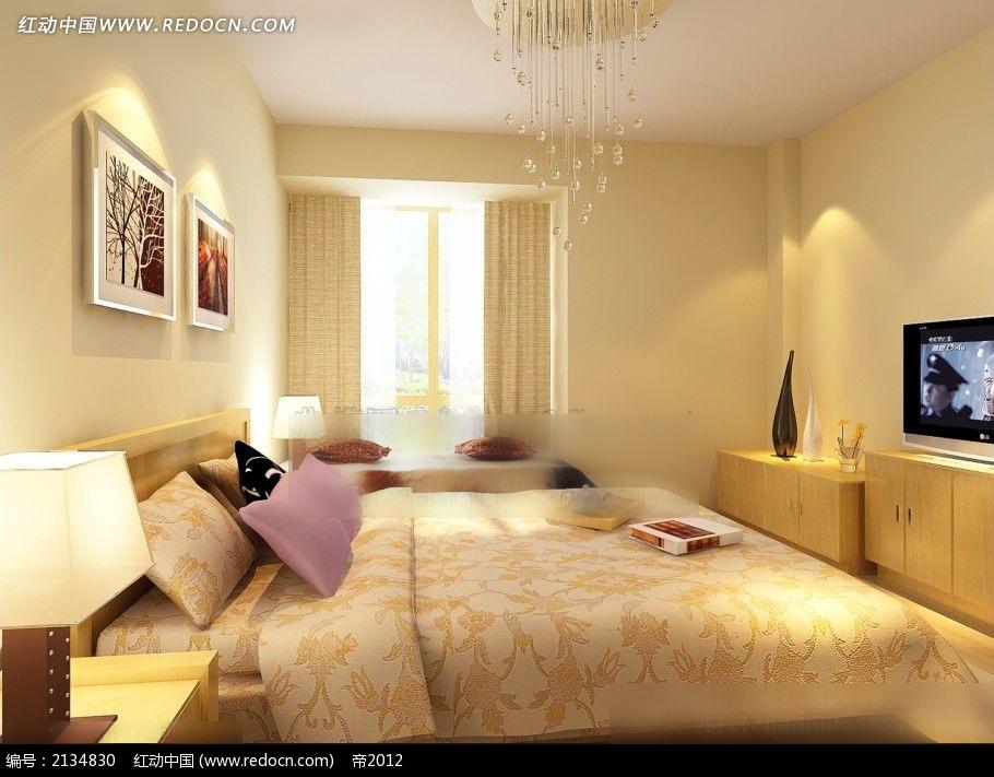 温馨卧室效果图max