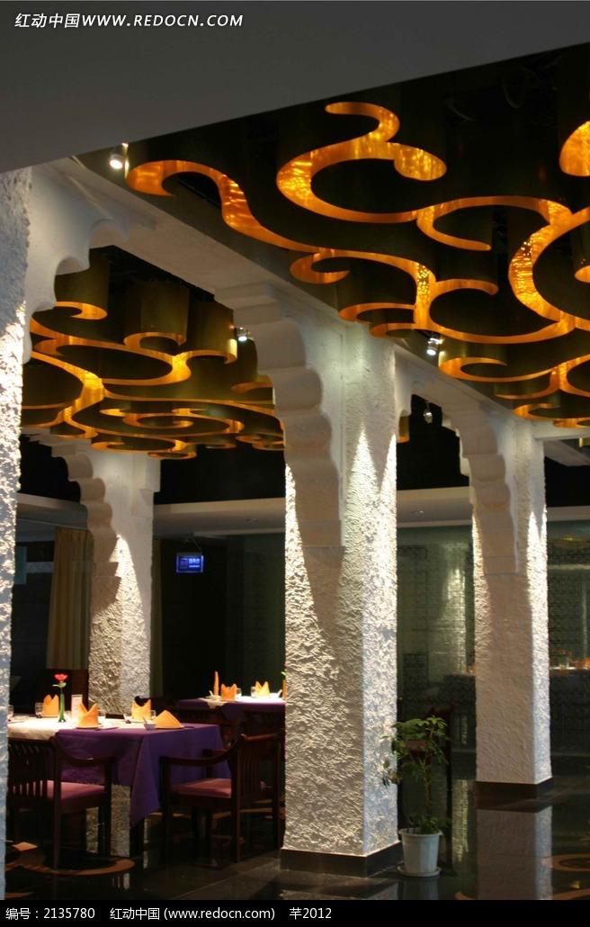 餐厅个性门柱装饰效果图图片免费下载 编号2135780 红动网