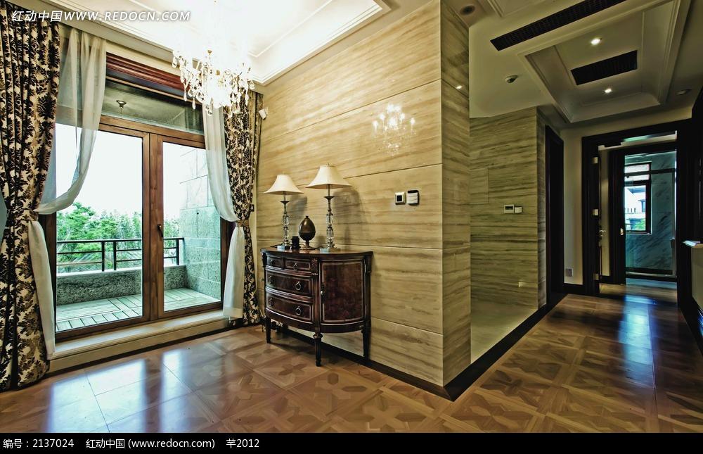 别墅落地窗设计图图片