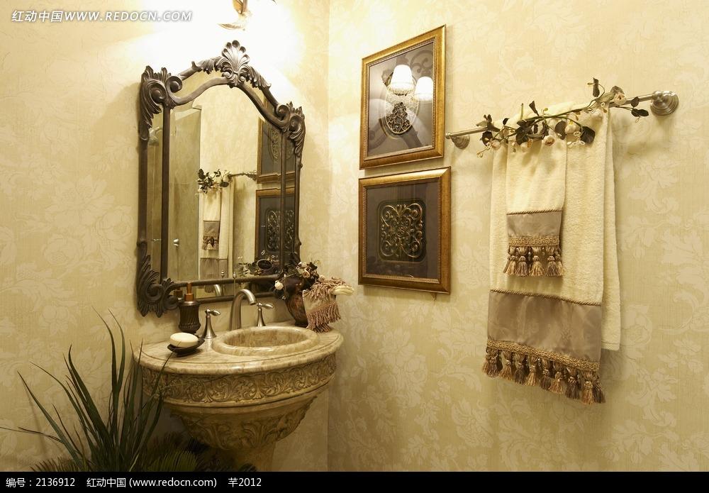 欧式复古洗手台设计图