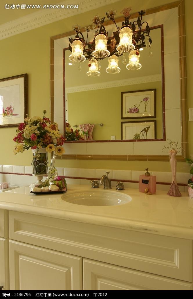 欧式仿古洗手台设计图图片