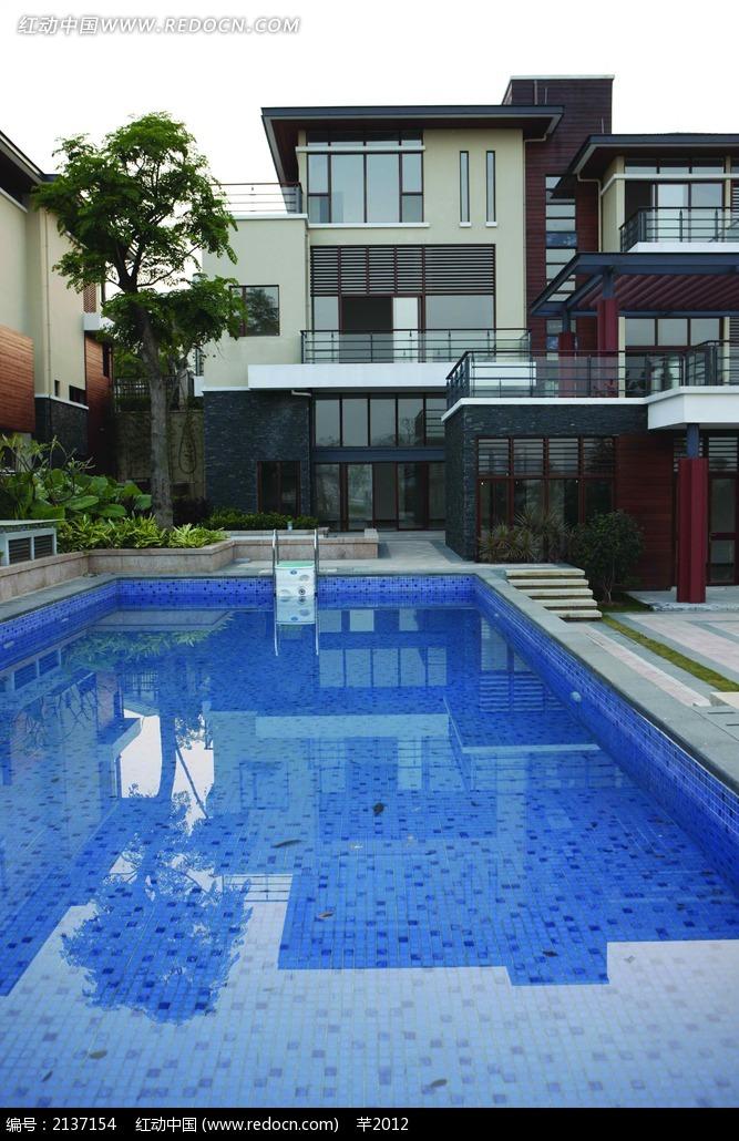 别墅游泳池设计图图片