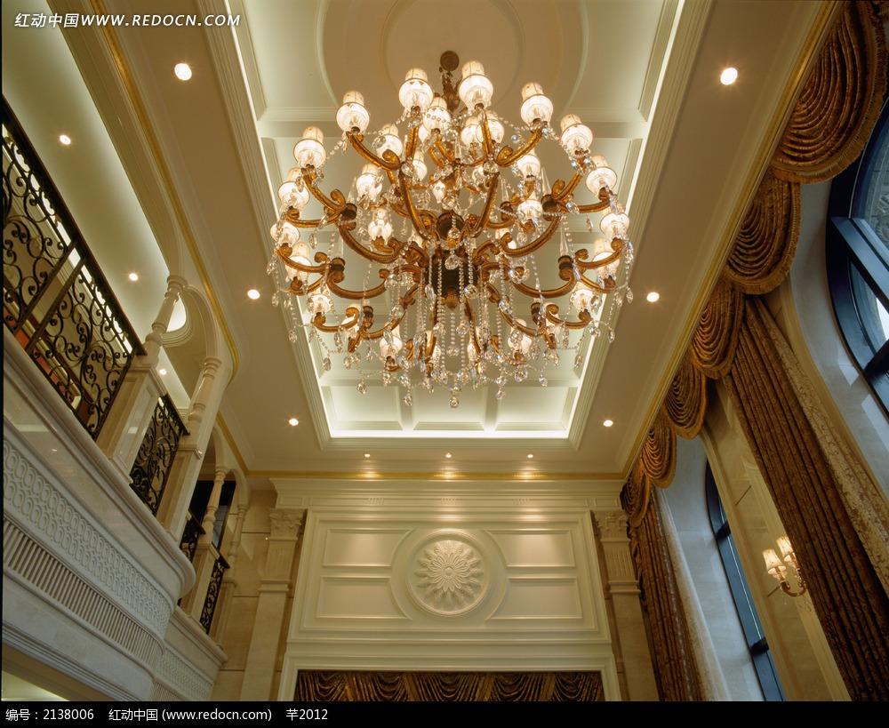 别墅大厅吊灯设计图