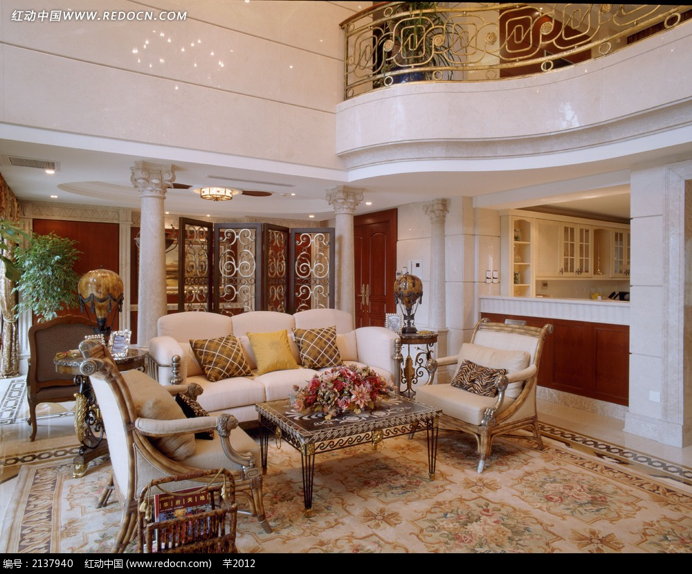 复式别墅扶梯实景图_室内设计图片_红动手机版图片
