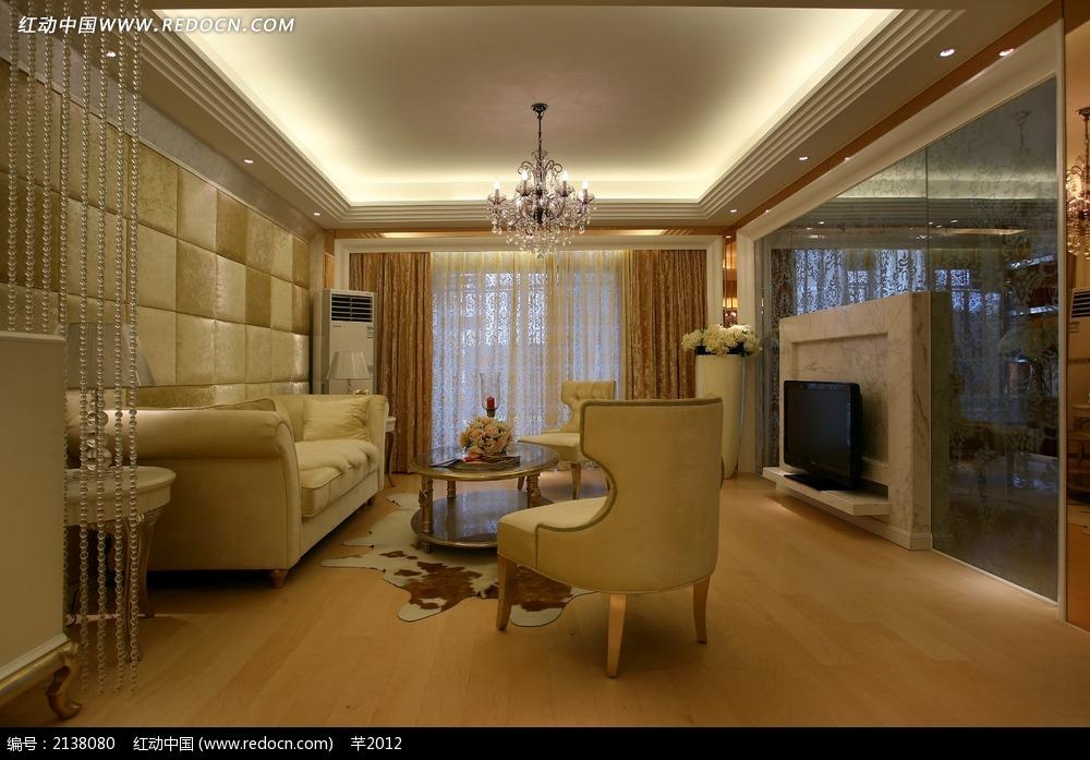 简约欧式客厅设计图图片