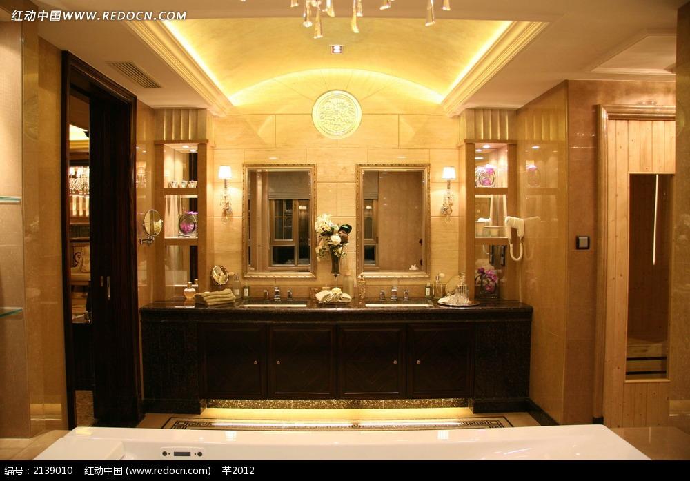 豪华室内洗手台设计