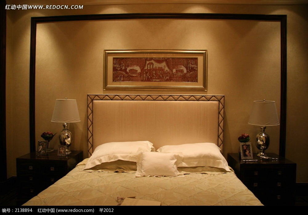卧室床铺设计图