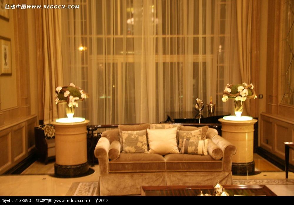 室内沙发陈设实景图_室内设计图片