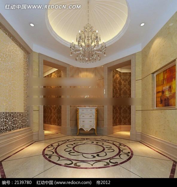 门厅别墅玄关效果图max_室内设计谷红旗大连别墅区图片