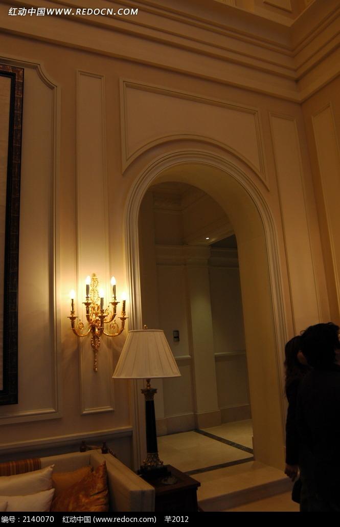 欧式墙面客厅高清图 拱门造型