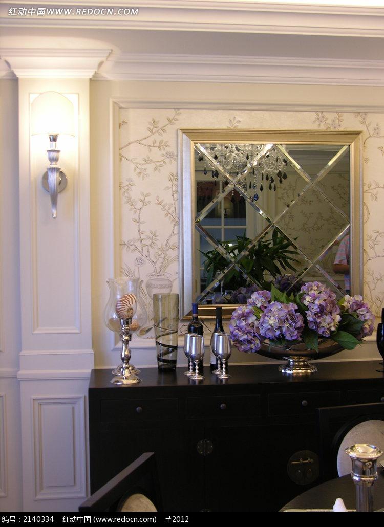 欧式风格墙面柜子高清图