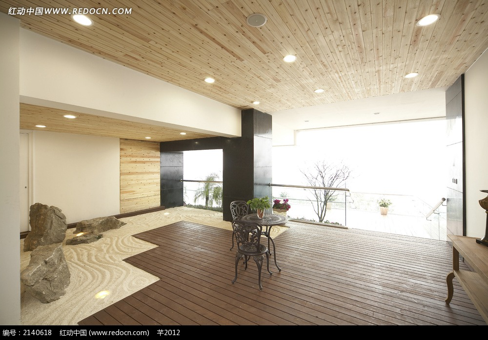 艺术休息空间效果图_室内设计图片