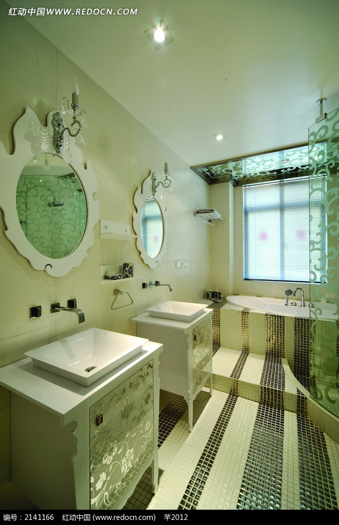 欧式花纹洗手台设计图