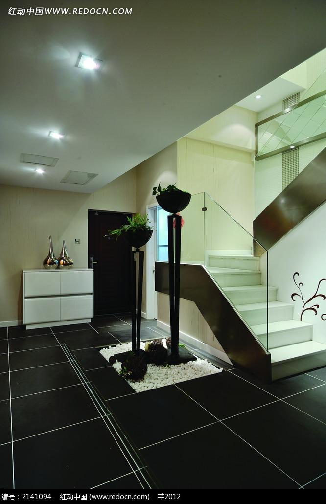 现代复式别墅扶梯设计图图片免费下载 红动网