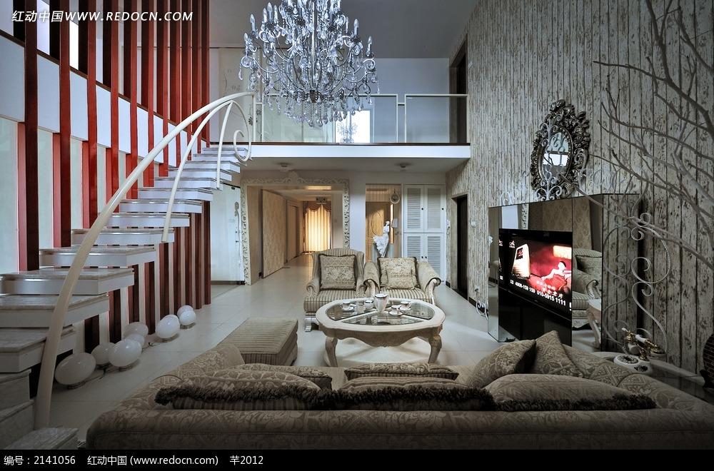 别墅客厅副厅吊灯设计图