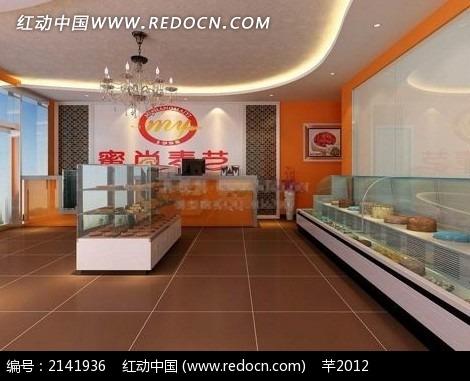 糕点店装修效果图max3dmax素材免费下载 编号2141936 红动网