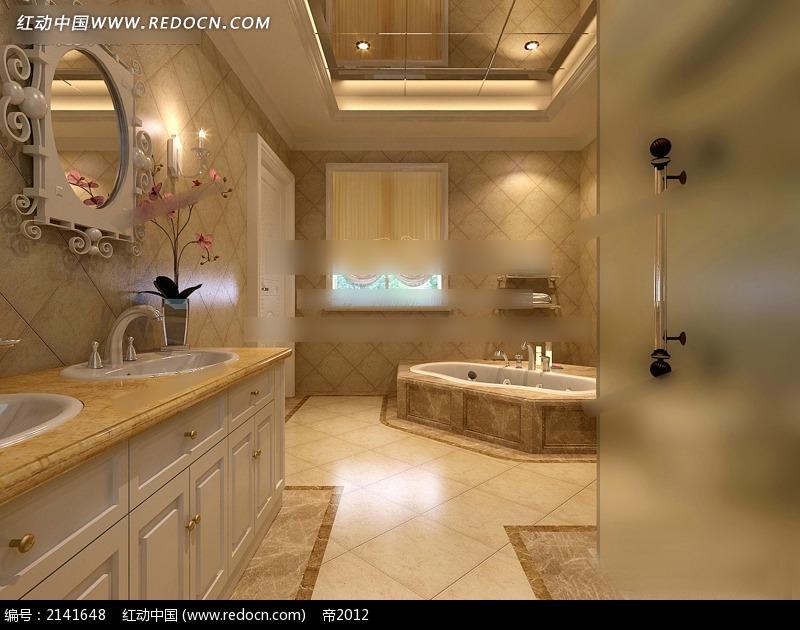 豪华欧式卫生间效果图max3dmax免费下载_室内设计素材图片