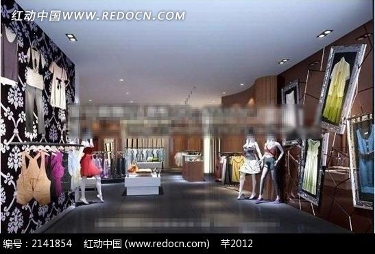 女士服装店设计效果图