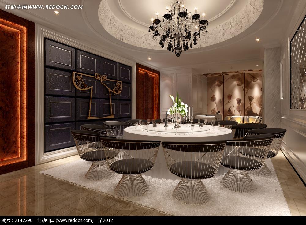 酒店客房装修效果图 桌椅 沙发 餐厅室内陈设效果图 木质家具 立体