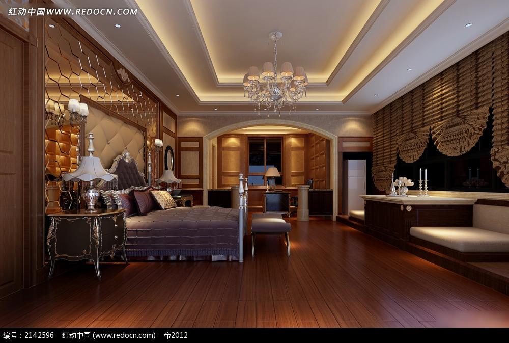 室内欧式地板手绘线稿