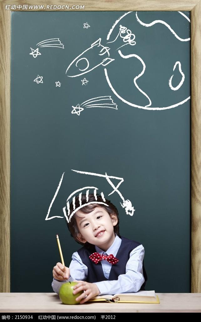 幼儿园黑板画图片