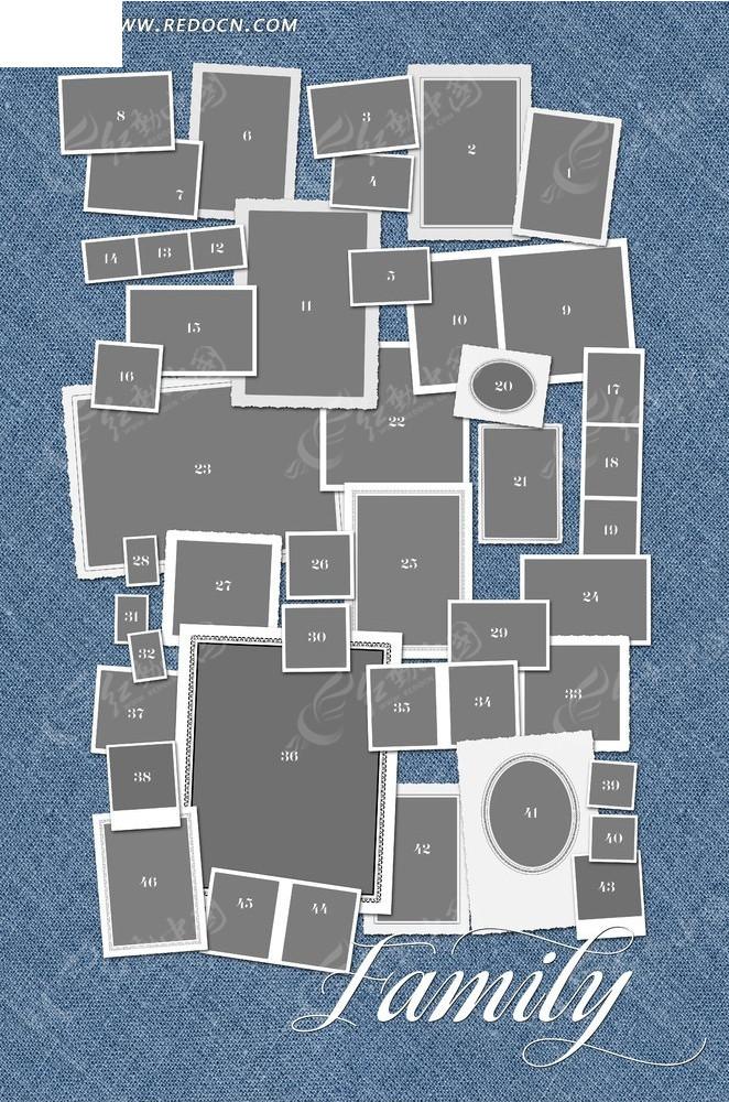 照片排列相框设计图片; 照片排列相框_边框相框; 图片排列_天羽图网;