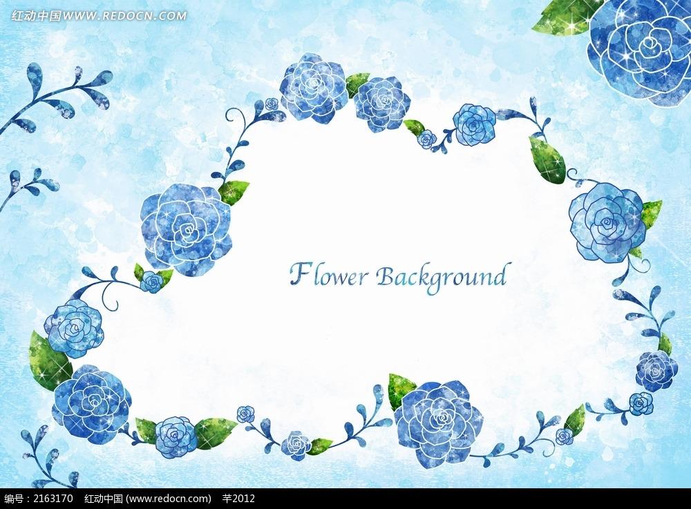 免费素材 psd素材 psd花纹边框 花纹花边 云形花瓣背景素材图片