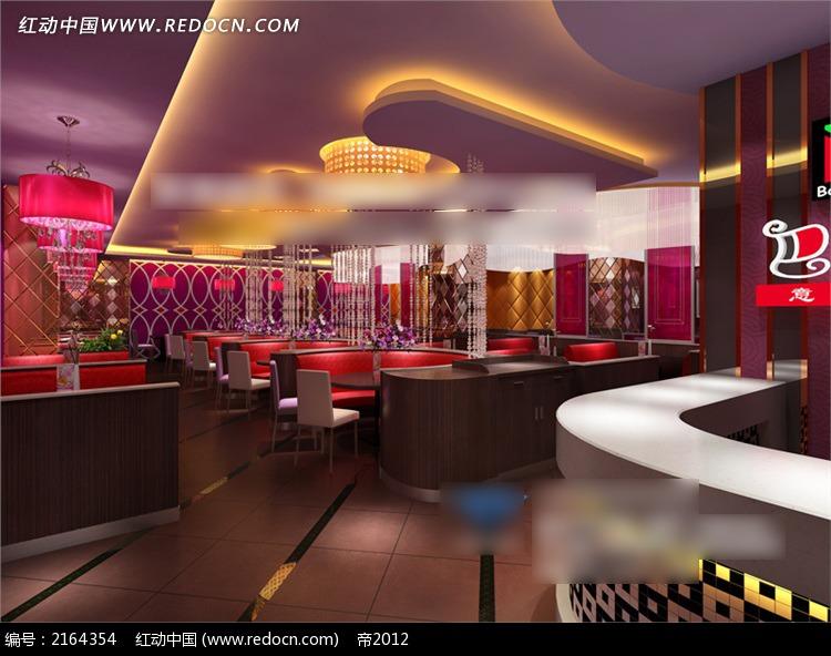 欧式西餐厅3d