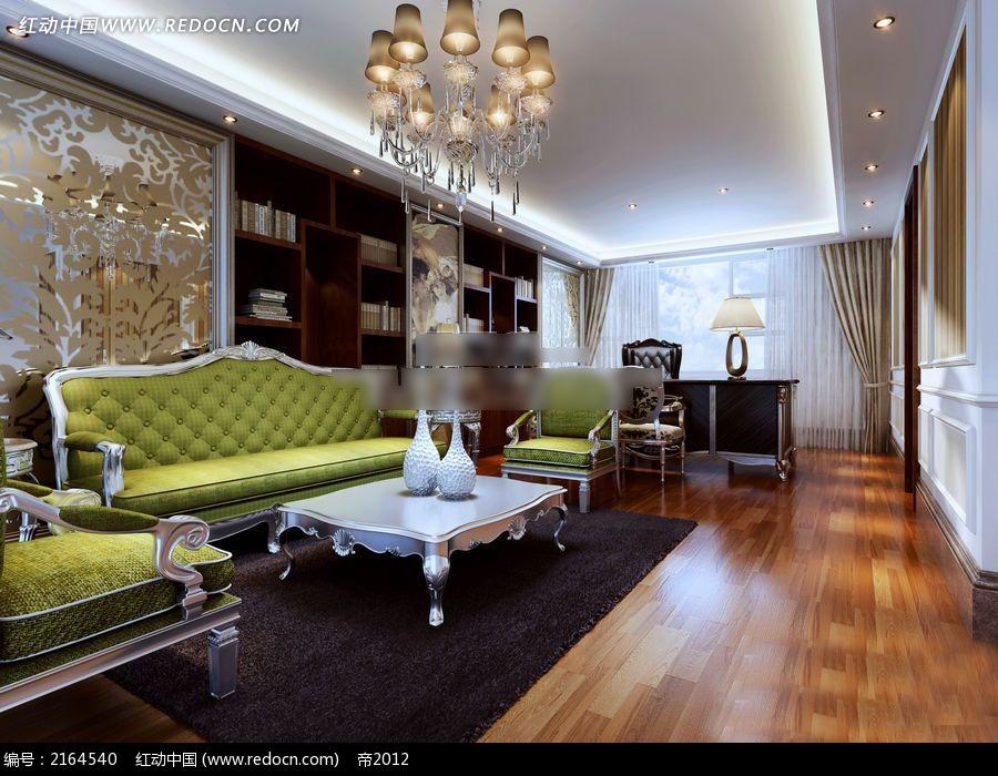 客厅装修效果图 欧式家装风格效果图 3d效果图 源文件 max 室内设计