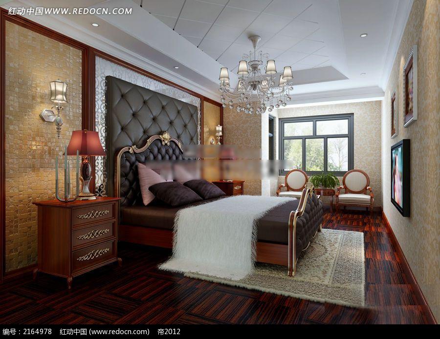 欧式仿古卧室装修效果图