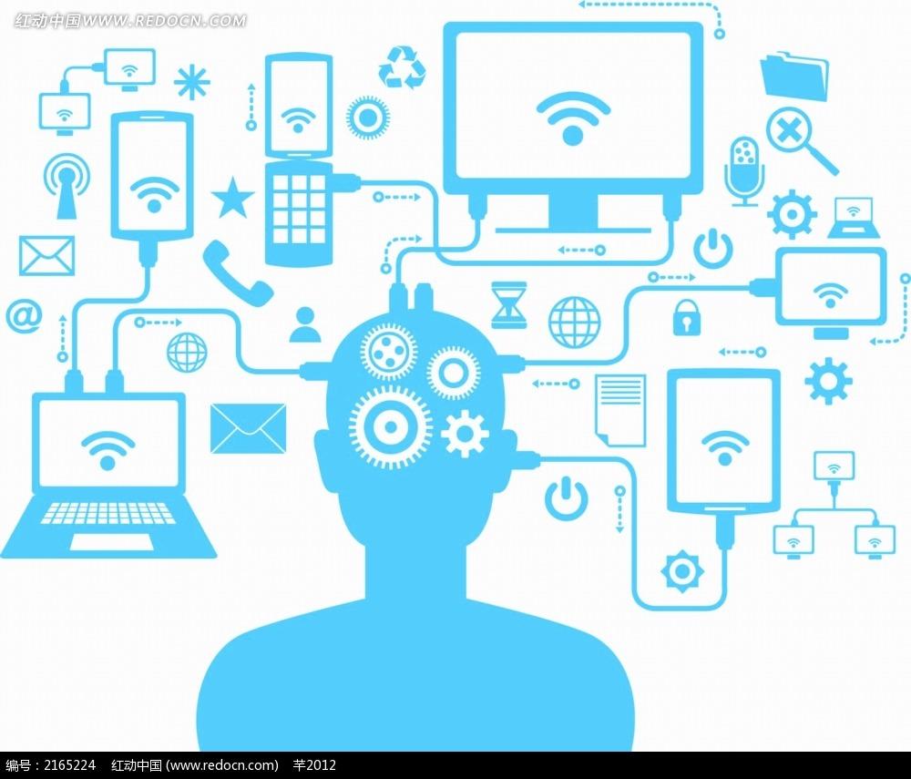 人脑齿轮运转商业背景素材EPS免费下载 编号2165224 红动网图片