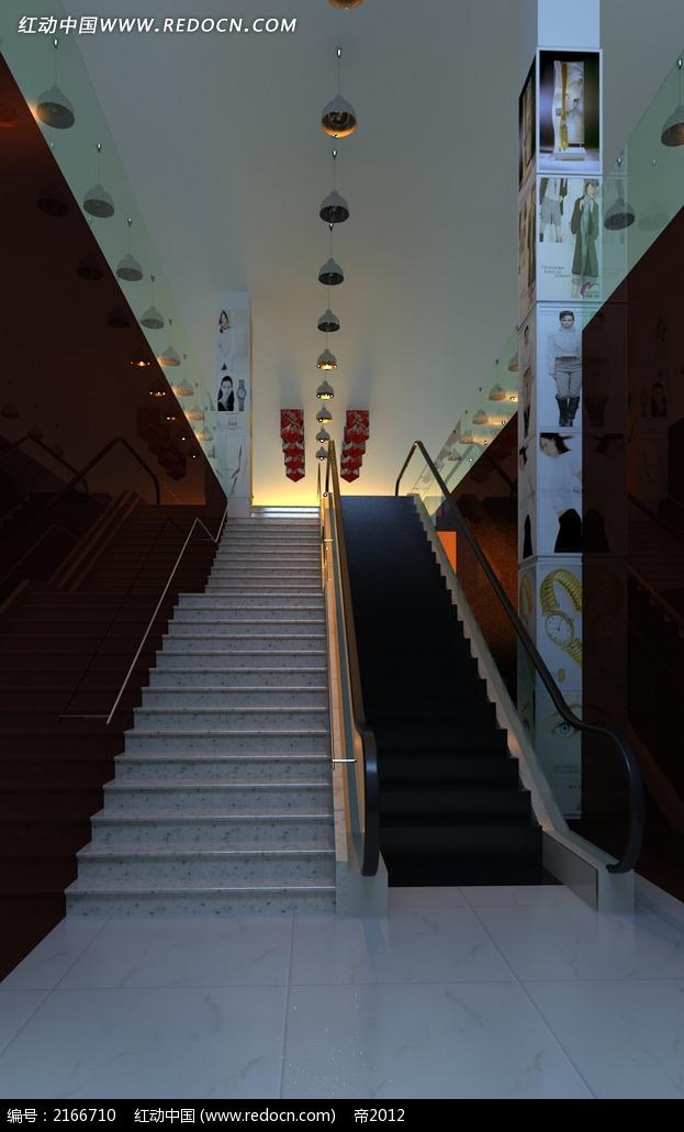 商场扶梯电梯效果图3dmax免费下载 室内设计素材高清图片