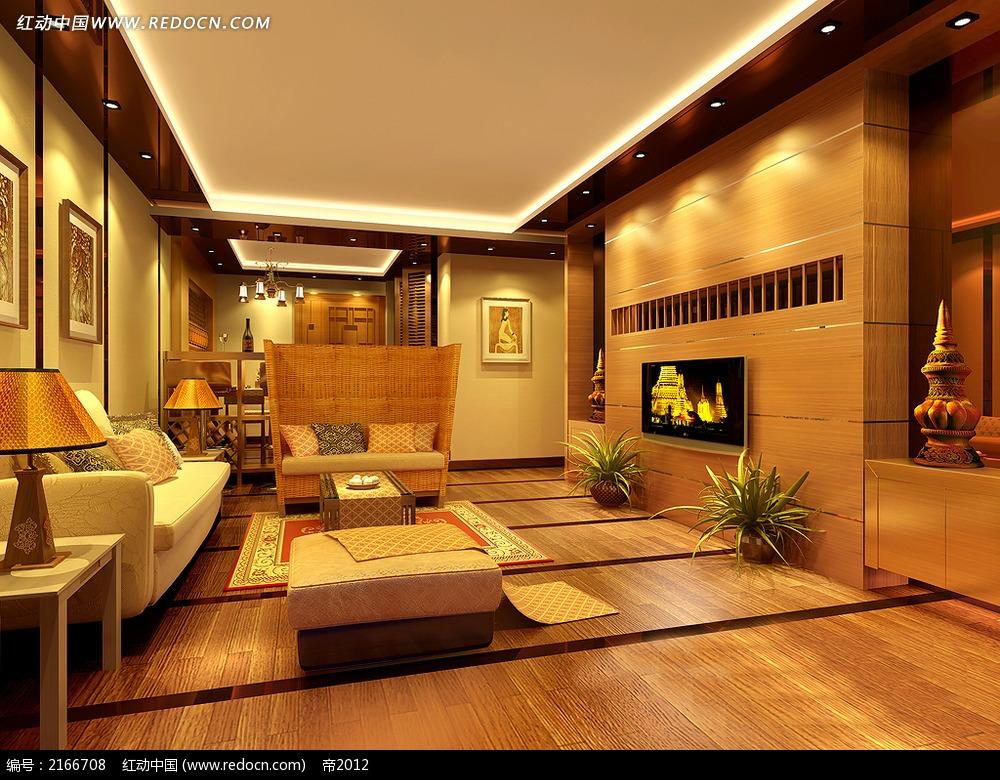 茶几 木质家具 地板 家居陈设效果图 客厅装修效果图 欧式家装风格