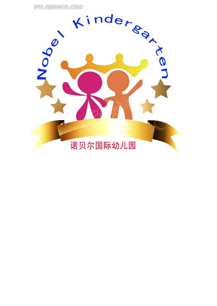 诺贝尔幼儿园logo vi vi设计
