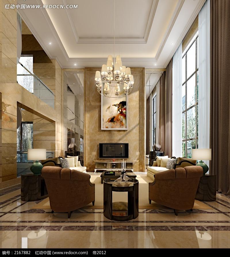 别墅装修客厅造型效果图