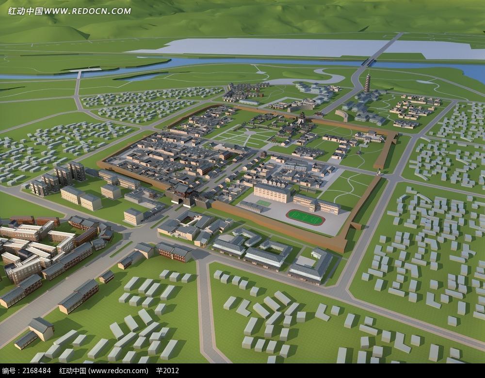 新农村规划设计效果图