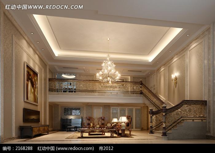 欧式复式客厅装修效果图片
