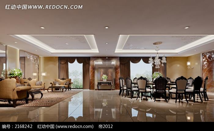 欧式大气酒店餐厅包间装修设计图图片