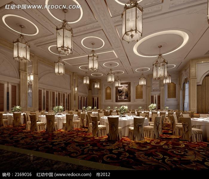 欧式风格公共餐厅装修设计图片