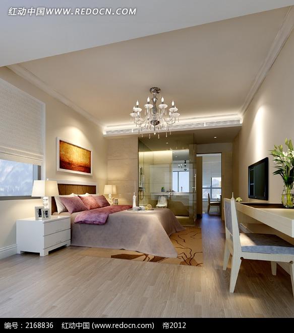 木质地板卧室效果图图片