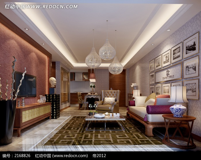 免费素材 3d素材 3d模型 室内设计 家庭客厅陈设效果图  请您分享: 素