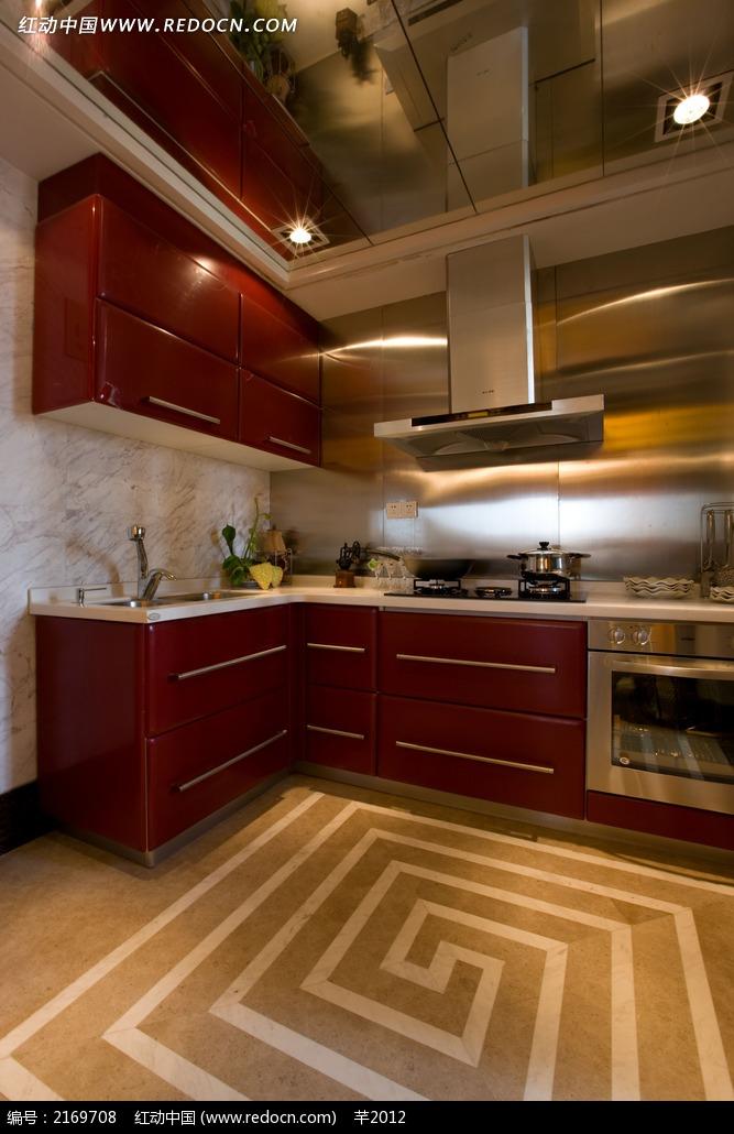 厨房石材地板装饰图片