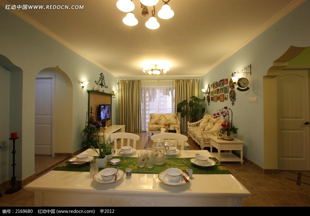 欧式餐桌餐具设计图图片