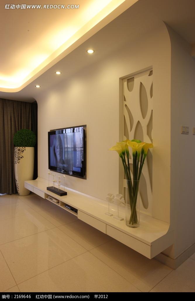 客厅电视机背景墙设计图图片
