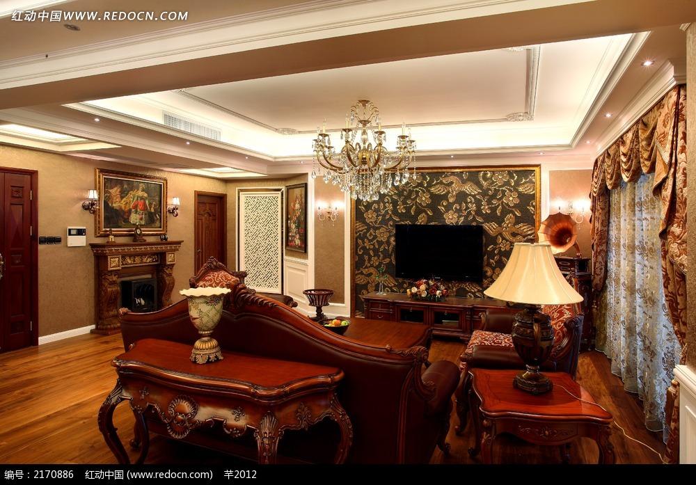 欧式客厅实景图图片_室内设计图片