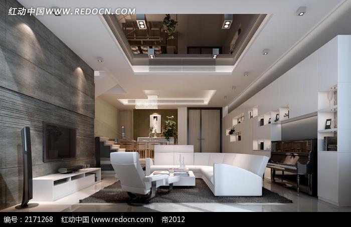 石材玻璃装修客厅效果图片