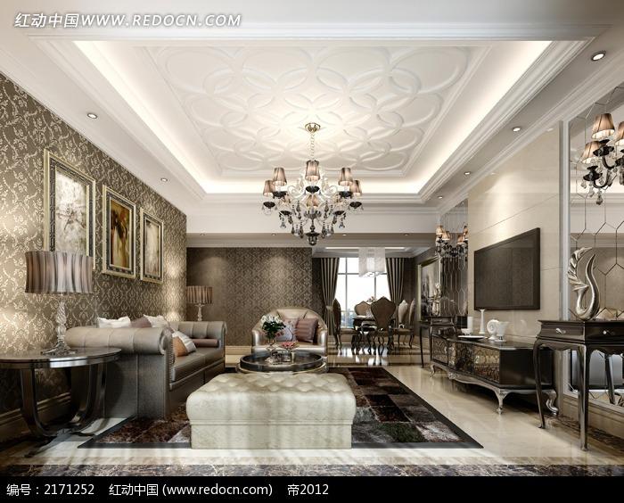 欧式客厅装修造型效果图片
