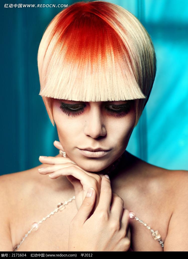 个性造型发型模特写真图片