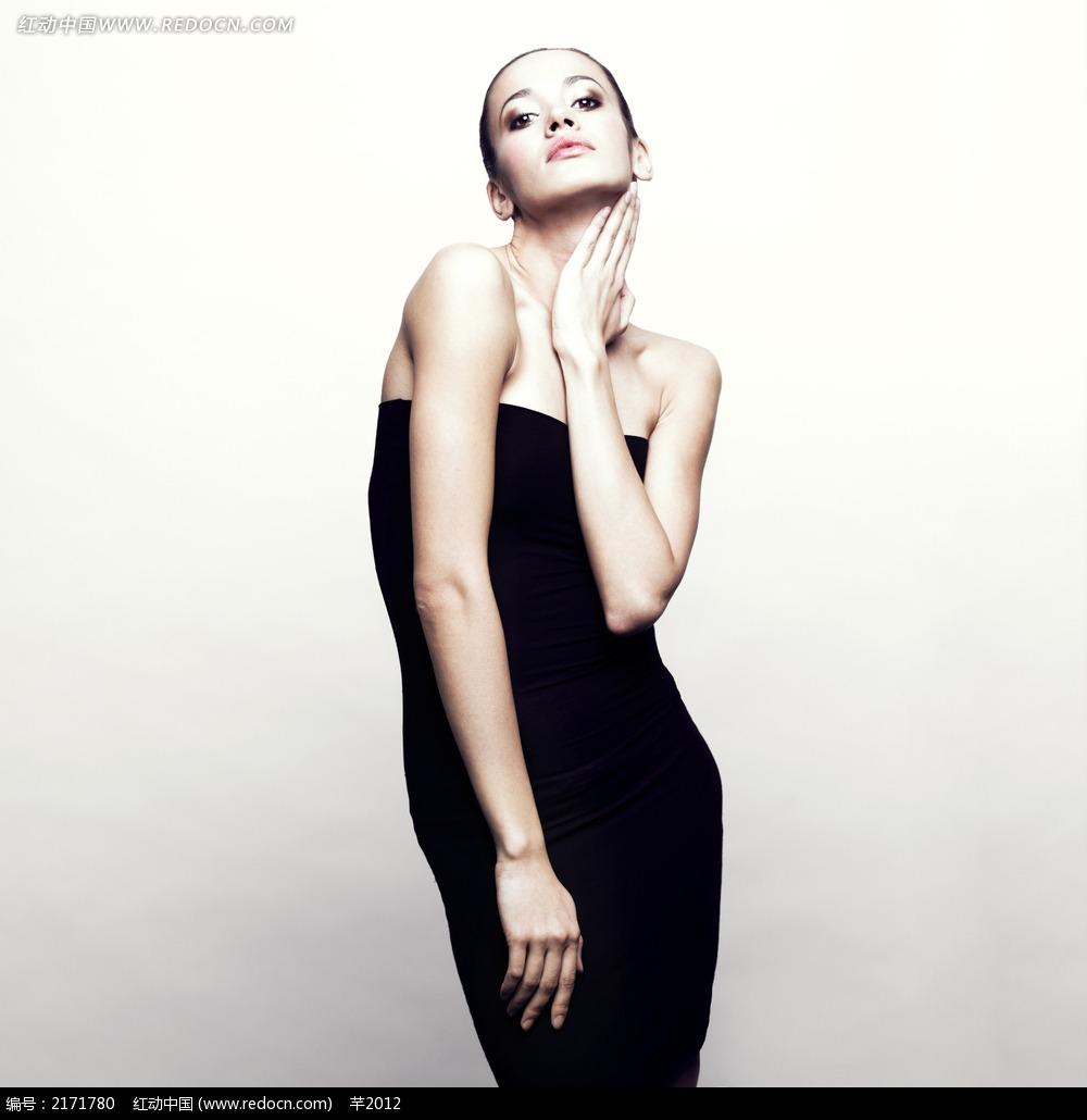 黑白照片美女模特